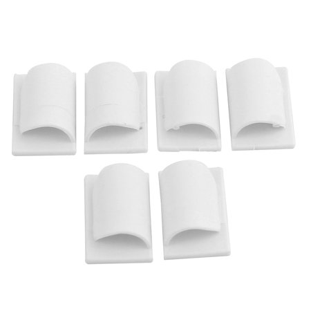Unique Bargains 6Pcs Cable Tabs Wire Establisher Self-adhesive Tape Cord (Advance Wire Solutions Adhesive Backed Tape Wire)