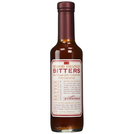 Stirrings Blood Orange Cocktail Bitters, 12 Ounce Bottle