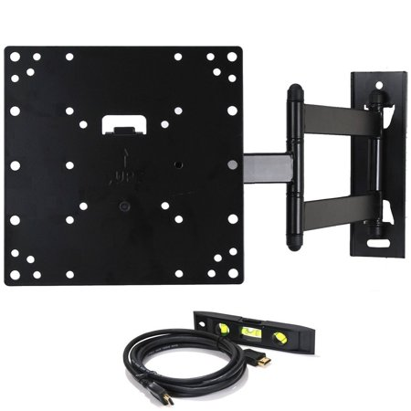 48 Inch Stainless Steel Wall Mount - VideoSecu Tilt Swivel TV Wall Mount 22 24 26 27 28 32 37 39 40 42 inch LCD LED Full Motion Bracket Heavy Duty Steel AB4