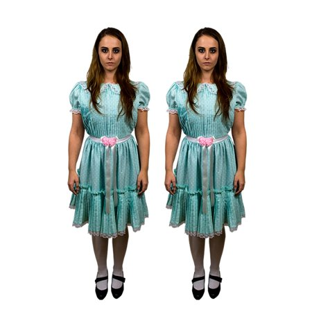 The Shining Grady Twins Adult Halloween Costume-One Dress Included - Twins Costumes Ideas