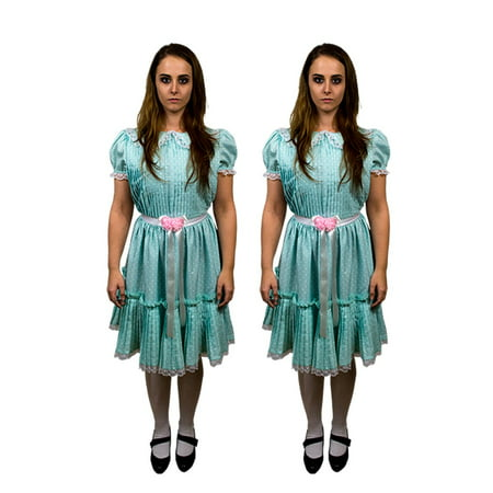 The Shining Grady Twins Adult Halloween Costume-One Dress Included](Tween Zebra Costume)