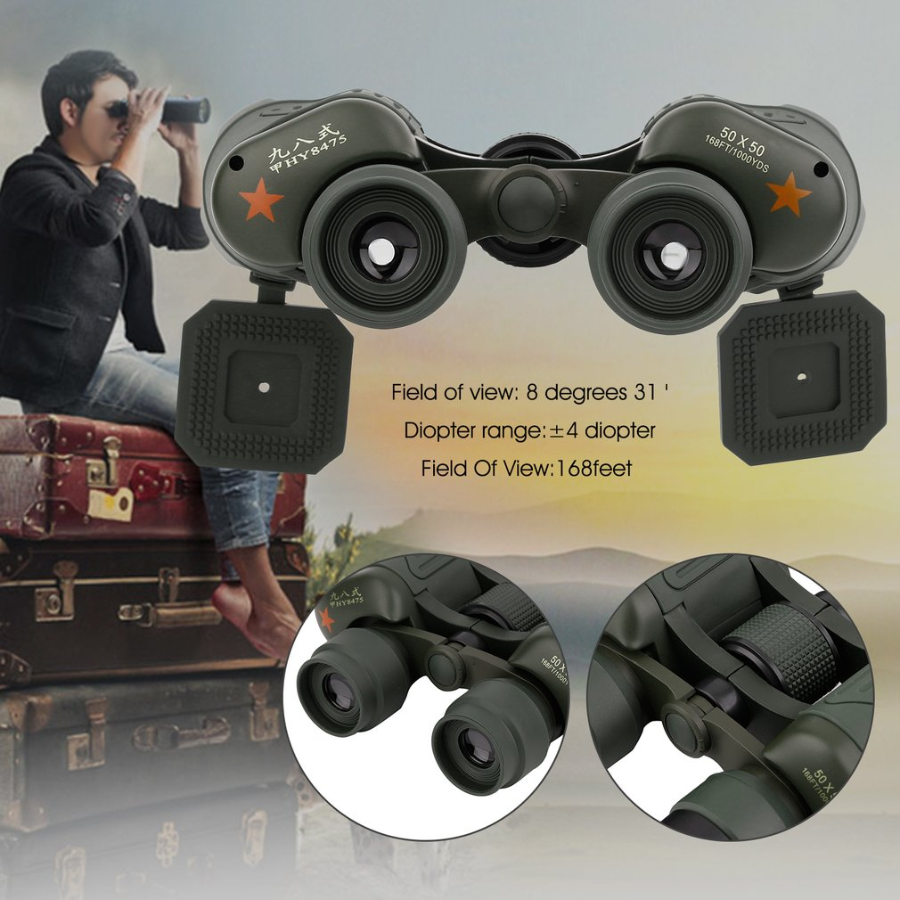 Night Vision Handheld Telescope,Portable 50X50 Binoculars Indoor Outdoor Night Vision Handheld Telescope