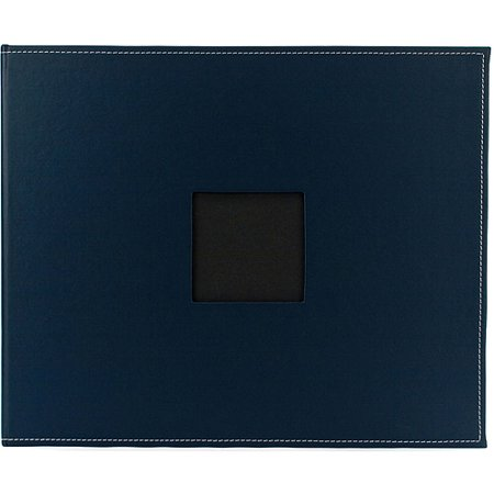 American Crafts Faux Leather 3-Ring Album 12 Inch X 12 Inch-Navy