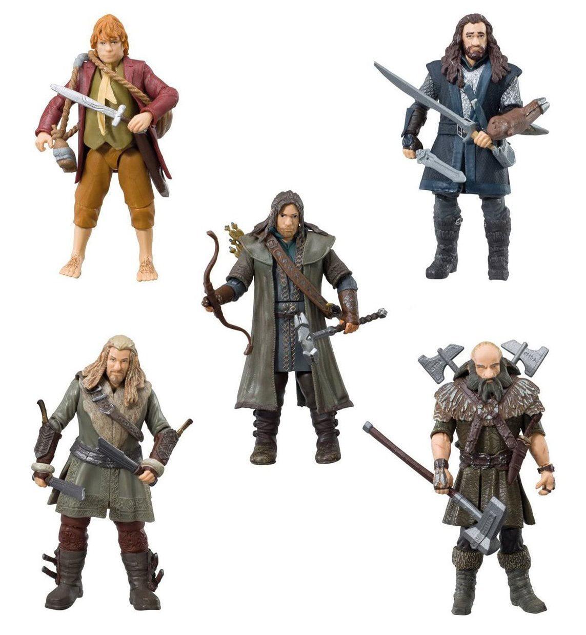 "The Bridge Direct Hobbit Hero Pack - Bilbo, Thorin, Dwalin, Kili and Fili 3.75"" Figure Box Set Multi-Colored"