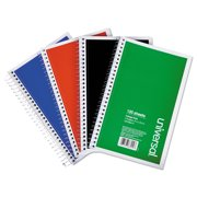 Wirebound Notebook, 3 Subjects, Medium/College Rule, Assorted Color Covers, 9.5 x 6, 120 Sheets, 4/P