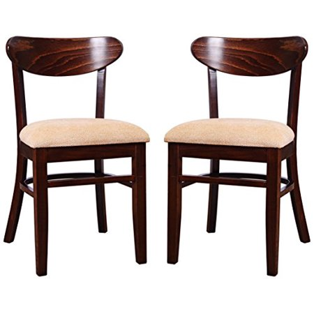Beechwood Mountain Bsd-7S-W Solid Beech Wood Side Chairs in Walnut for Kitchen & Dining, Set of 2, NA