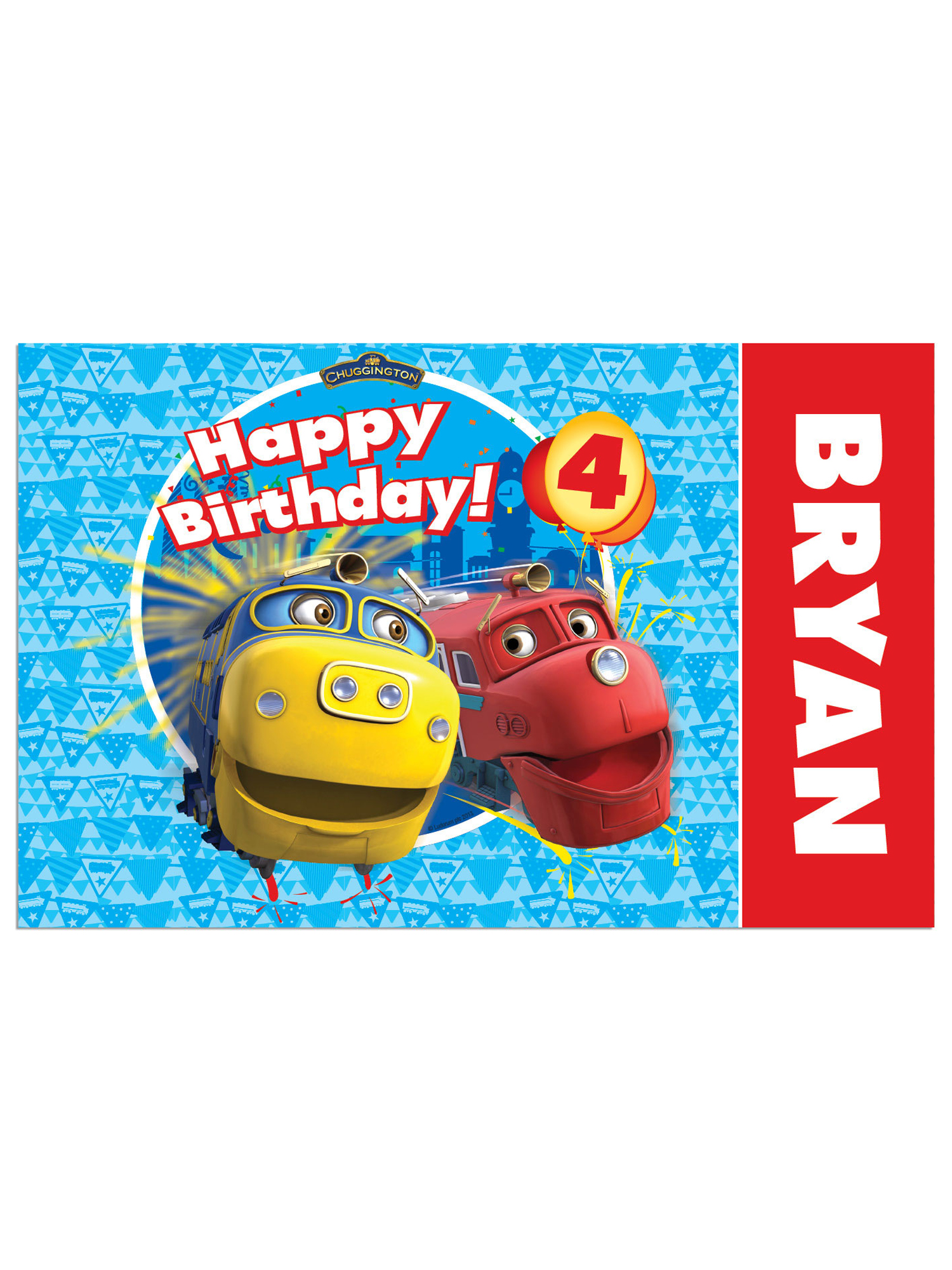 Personalized Chuggington Brewster and Wilson Birthday Placemat