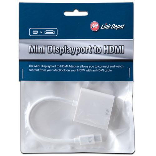 Link Depot LD-ADT-MD-HD Mini DisplayPort Male toHDMI Female Adapter