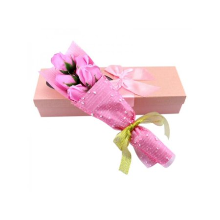 Topumt Rose Flower With Box Artificial Dried Flowers Couple Valentines Day Birthday Gifts Plush Bear New