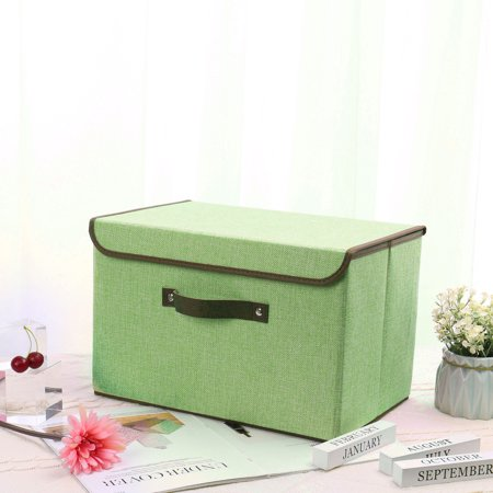 Fabric Storage Bin Basket Toy Box with Lid for Home Office Shelves - Khaki China Storage