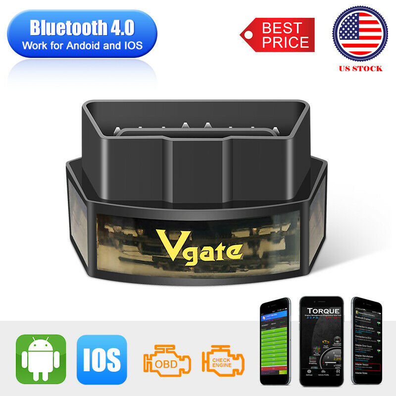 Vgate iCar3 ELM327 WiFi// Bluetooth 3.0//4.0 OBD2 Diagnostic Tool for IOS// Android