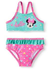 e4c8fe8c8e Baby Girls  Minnie Mouse Tank Bikini Swimsuit
