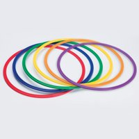 S&S Worldwide Spectrum Flat Hoops / Agility Rings, 30 inch