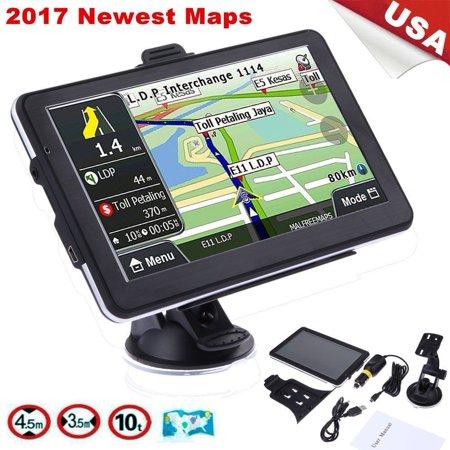 7 Inches Tft Lcd Display Gps Car Truck Vehicle Portable Gps Navigation Navigator Sat Nav 4Gb Us Map