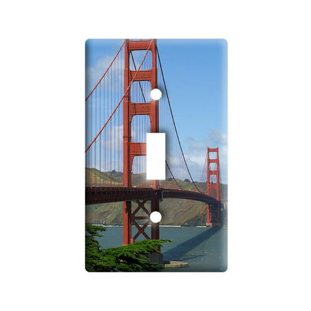 Golden Gate Bridge in San Francisco CA Light Switch Plate (Outlet Store In San Francisco)
