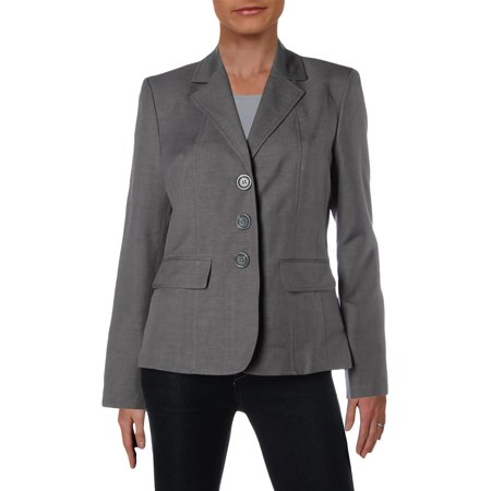 Three Button Suit (Le Suit Womens Woven Office Three-Button Blazer)