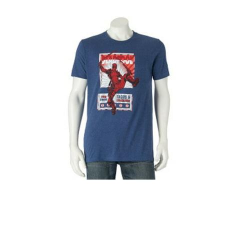 Men's Marvel Deadpool Ninja Tee T-Shirt Crew Neck
