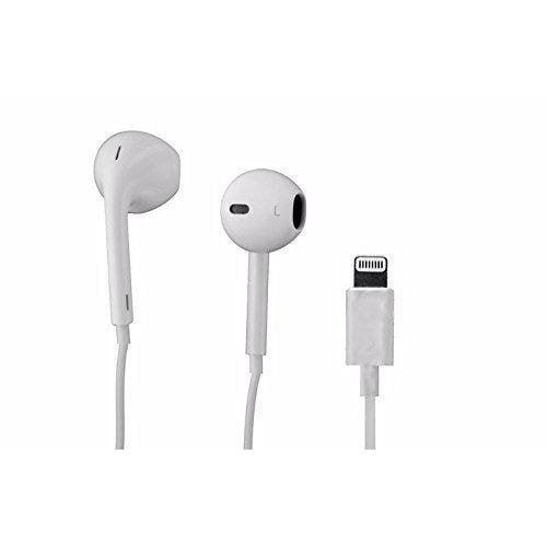 Apple Iphone 7 Iphone 7 Plus Earpod Earbud Earphones Headphones With Lightning Connector White Walmart Com Walmart Com