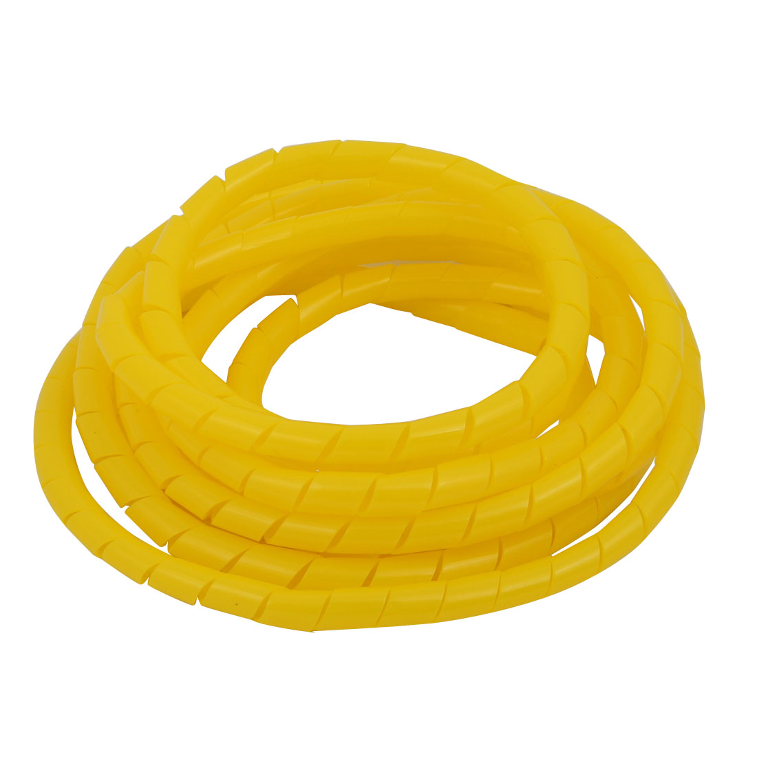 Unique Bargains Flexible Spiral Tube Cable Wire Wrap Yellow Manage Cord 6mm Dia x 2 Meter Long - image 2 de 2
