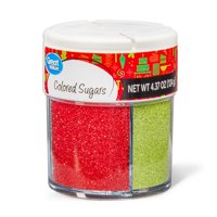 Great Value Holiday Colored Sugars, 4 Cells, 4.37 oz