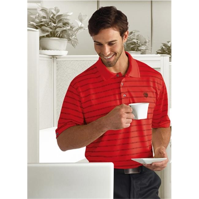 Bermuda Sands 870 Mens Catalina Pinstripe Polo - Tomato, Small