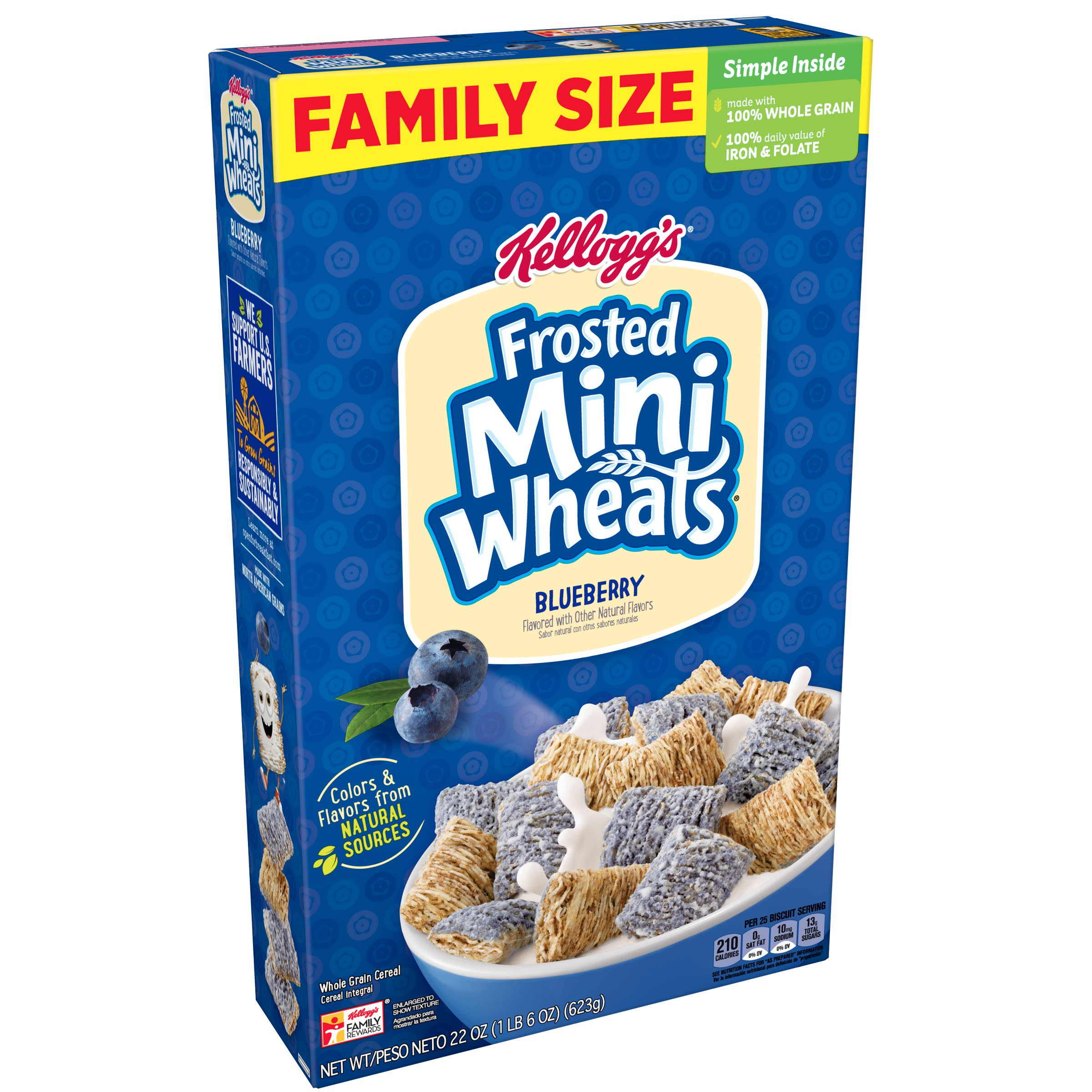 Kellogg's Blueberry Frosted Mini-Wheats Breakfast Cereal