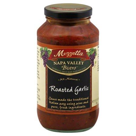 Napa Valley Pinot - Mezzetta Napa Valley Bistro Pasta Sauce, Roasted Garlic, 25 Oz