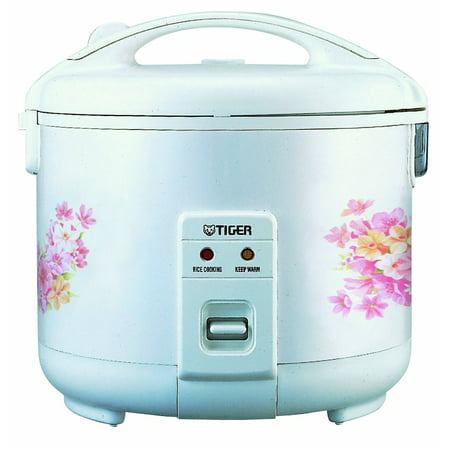 Tiger 3 Cup Floral White Rice Cooker & Warmer