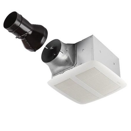 NuTone RN80 80 CFM .3 Sone Ceiling Mounted HVI Certified Bath Fan from the ULTRA PRO Collection