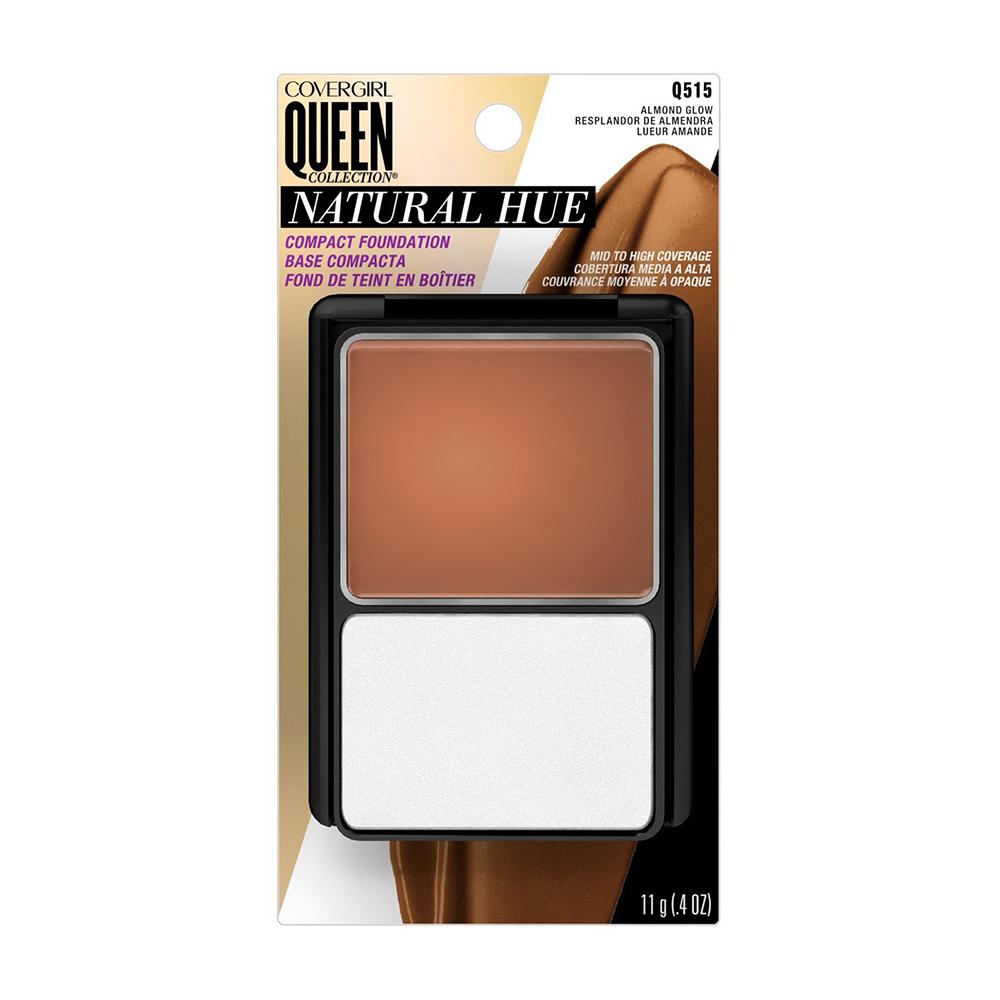Covergirl Queen Collection Natural Hue Compact Foundation Q515, Almond Glow - 0.4 Oz, 2 Ea, 6 Pack