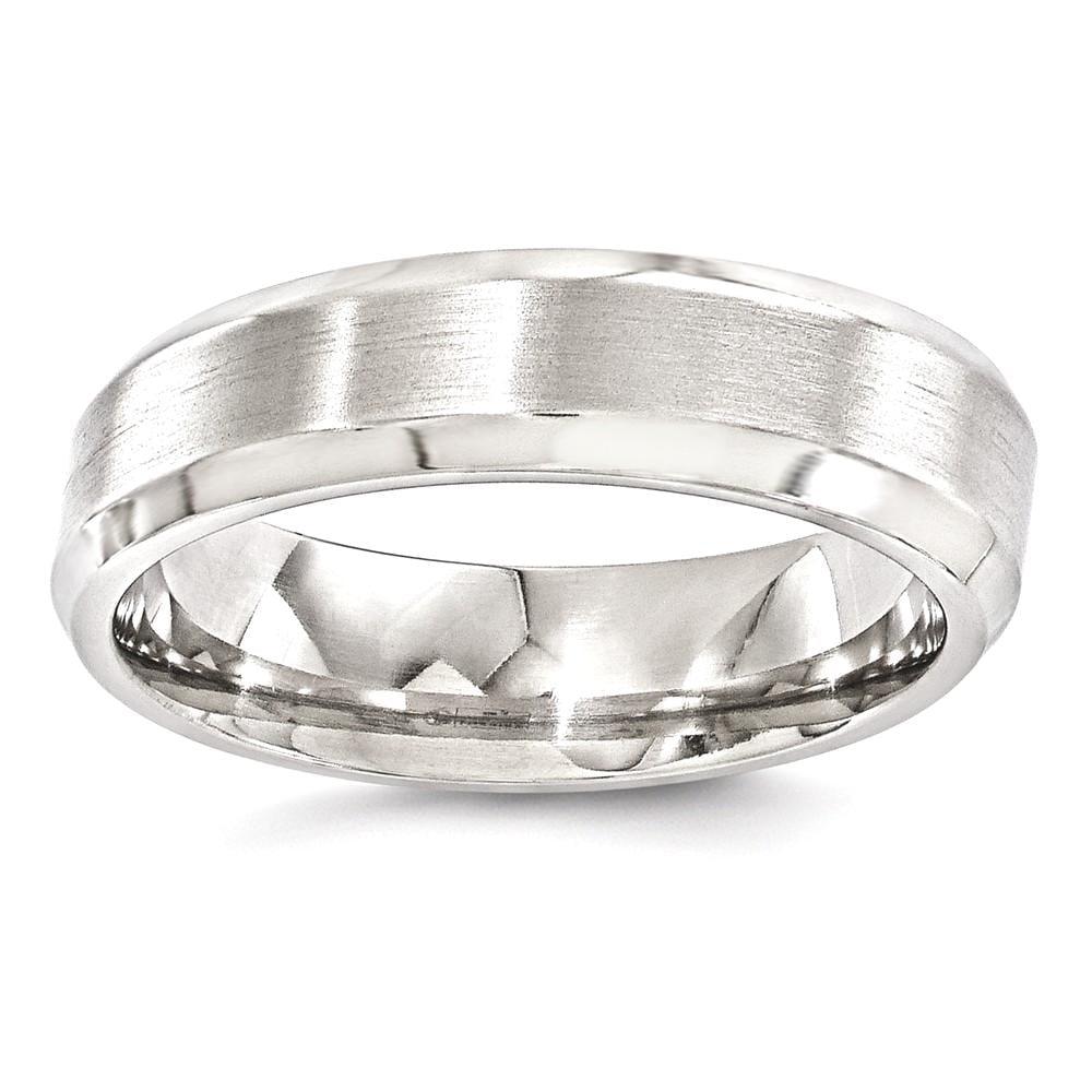 ICE CARATS Edward Mirell Titanium Brushed Beveled 6mm Wedding Ring Band Size 13.00 Man Classic Edge Fashion Jewelry Dad Mens Gift Set