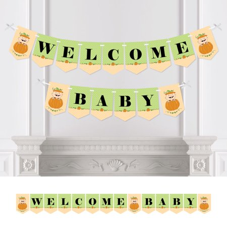 Little Pumpkin Caucasian - Fall Baby Shower Bunting Banner - Pumpkin Party Decorations - Welcome Baby