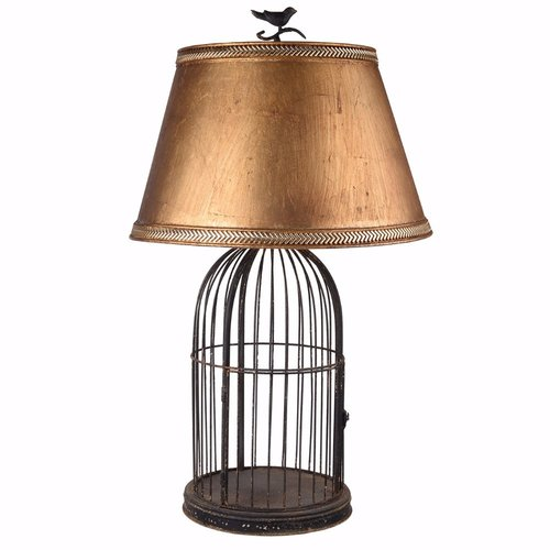 Alcott Hill Kimberling Vintage Style Birdcage 30 Table Lamp