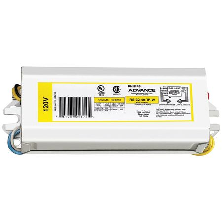 Ballast,Magnetic,Rapid,A15,60W PHILIPS ADVANCE RS-32-40-TP-W