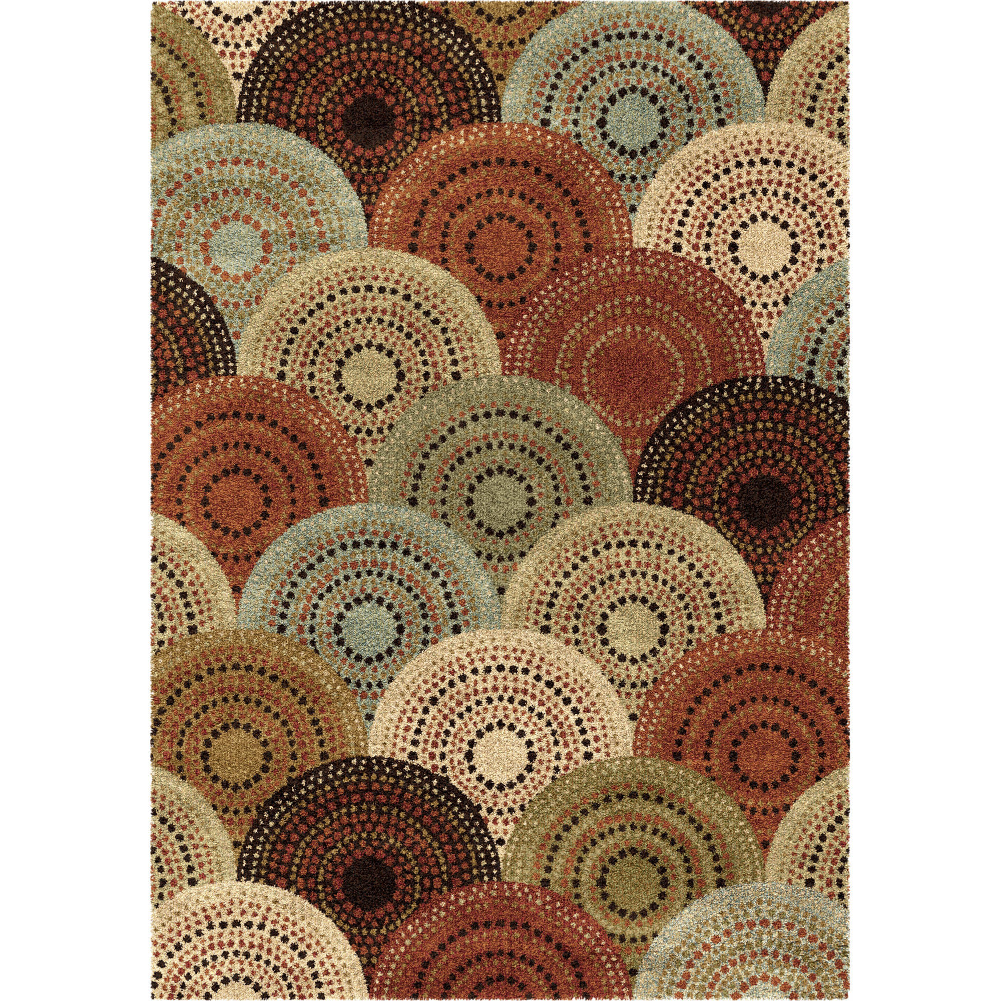 Better Homes And Gardens Spice Dotted Circles Multi Colored Area Rug    Walmart.com
