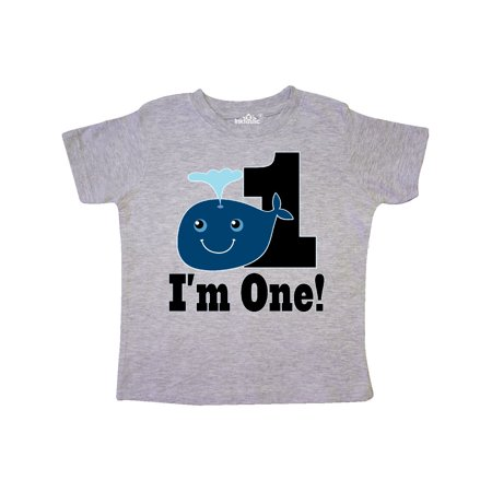 1st Birthday Boy Whale One Year Old Toddler T Shirt