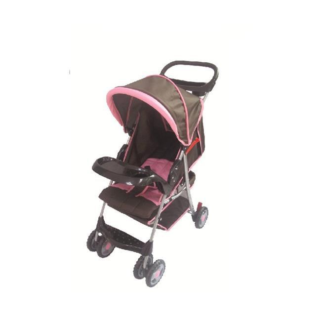 Coche Para Bebe Cochecito de bebé cómodo de AmorosO, marrón/rosa + Amoroso en Veo y Compro