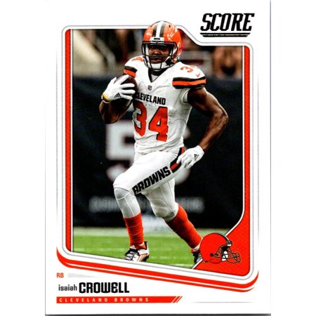 f9618fbc 2018 Score #76 Isaiah Crowell Cleveland Browns Football Card