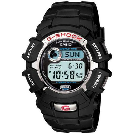 Casio Men's G-Shock Solar-Powered Black Resin Sport Watch
