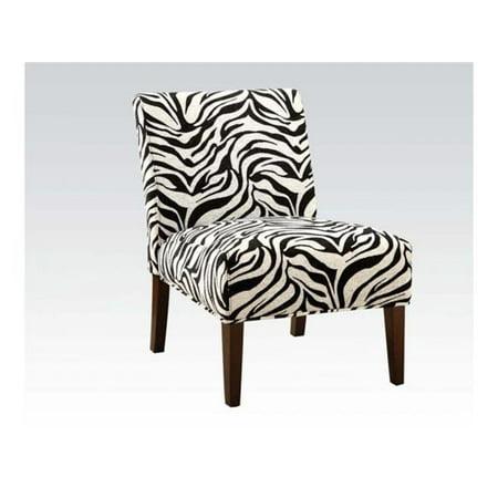 Acme Furniture 59152 Aberly Accent Chair in Zebra Pattern