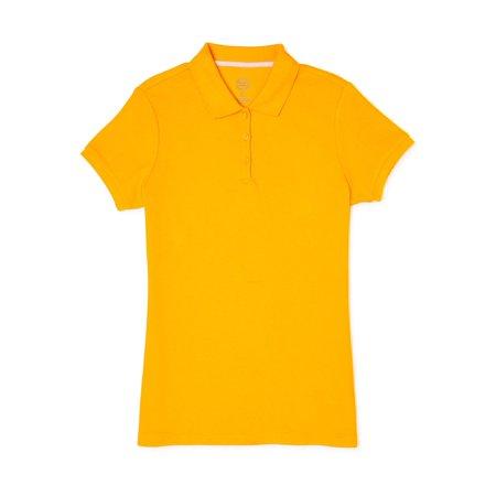 Wonder Nation Juniors School Uniform Short Sleeve Interlock Polo