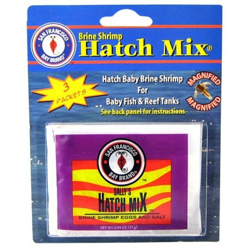 Brine Shrimp Hatch Mix 3 Pack (0.61 oz each) by San Francisco Bay Brands