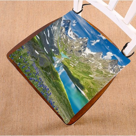 PHFZK Nature Landscape Chair Pad, Russia Siberia Altai Mountains Seat Cushion Chair Cushion Floor Cushion Two Sides Size 18x18 inches