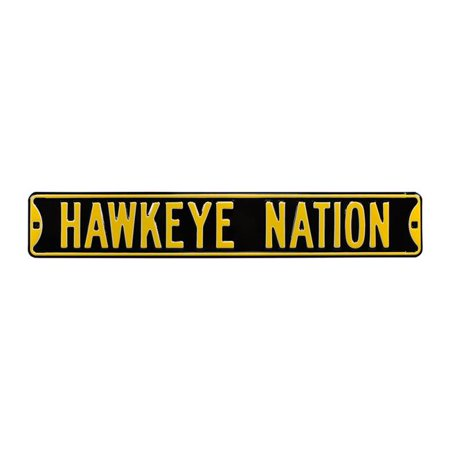 Authentic Street Signs 70114 Hawkeye Nation Black Street Sign - image 1 of 1