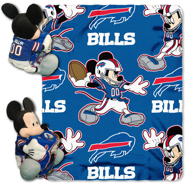 "Disney NFL Buffalo Bills Hugger Pillow and 40"" x 50"" Throw Set"