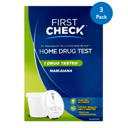 (3 Pack) First Check Home Drug Test, Marijuana | At Home Urine Drug (Best Over The Counter Drug Test For Thc)