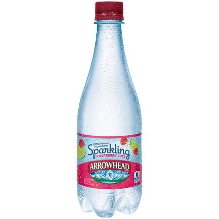 Arrowhead Sparkling Natural Spring Water, Lemon, 16.9 Fl Oz, 24 Count by Nestle Waters North America