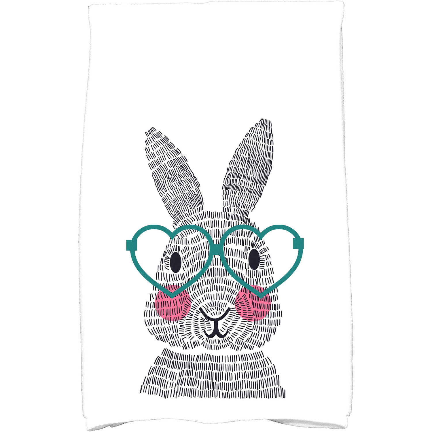 "Simply Daisy 16"" x 25"" What's Up Bunny Holiday Animal Print Kitchen Towel by E By Design"