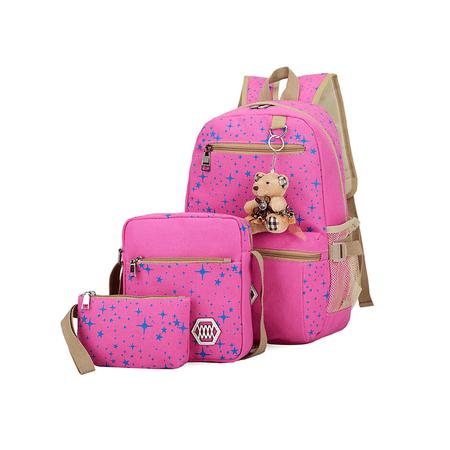 Anyprize - Rucksack Canvas Travel Bags 3PCS for Women   Girls ... 7868426dda622