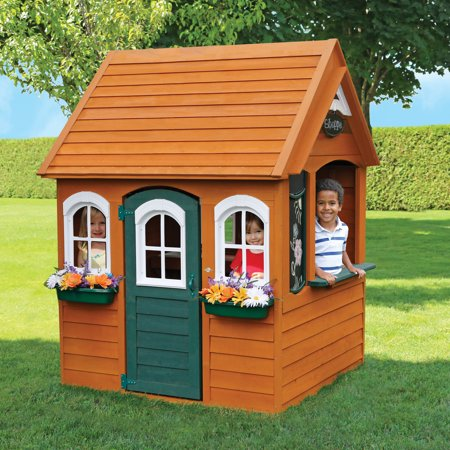 KidKraft Bancroft Wooden Playhouse (School House Wood)